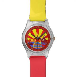 アリゾナの州の旗のヴィンテージの引くこと 腕時計