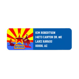 アリゾナの州の旗のヴィンテージの絵 ラベル