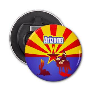 アリゾナの州の旗のヴィンテージの絵 栓抜き