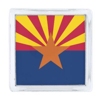 アリゾナの州の旗 シルバー ラペルピン