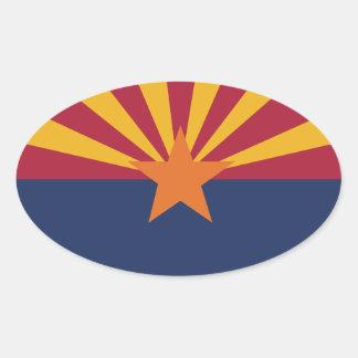 アリゾナの州の旗 卵型シール