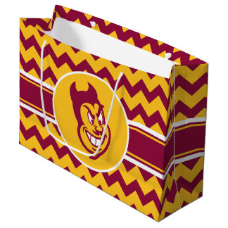 アリゾナの州活発な シェブロンのパターン ラージペーパーバッグ
