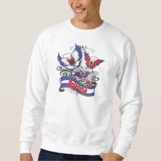 アリゾナの愛国心の蝶 スウェットシャツ
