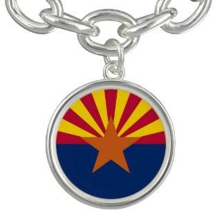 アリゾナの旗が付いている愛国心が強い魅力のブレスレット チャームブレスレット