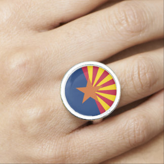 アリゾナの旗が付いている愛国心が強く、特別なリングや輪 指輪