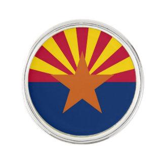 アリゾナの旗が付いている愛国心が強く、特別な折りえりピン ラペルピン