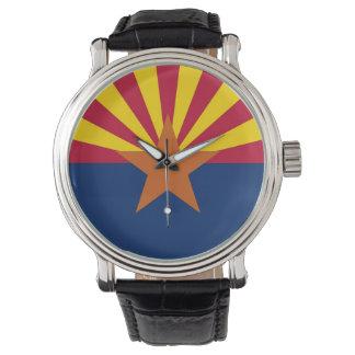 アリゾナの旗が付いている愛国心が強く、特別な腕時計 腕時計