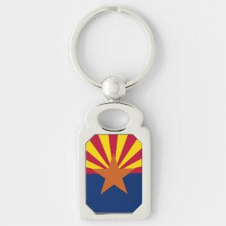 アリゾナの旗が付いている愛国心が強く、特別なkeychain キーホルダー