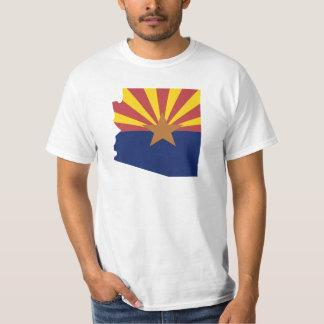 アリゾナの旗の地図 Tシャツ