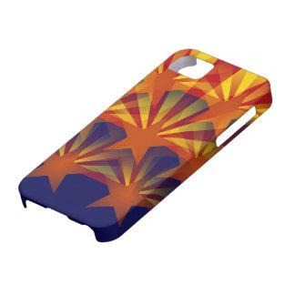 アリゾナの旗の抽象芸術 iPhone SE/5/5s ケース