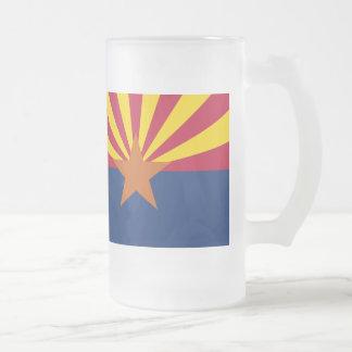 アリゾナの旗 フロストグラスビールジョッキ