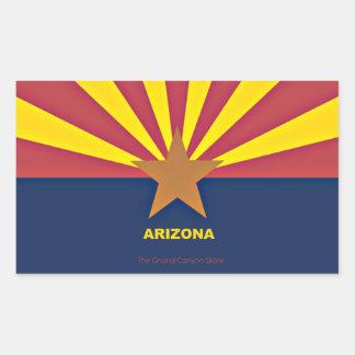 アリゾナの旗 長方形シール・ステッカー
