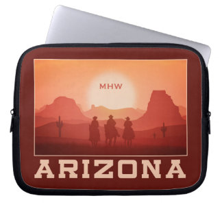 アリゾナの日没のカスタムなモノグラムのラップトップスリーブ ラップトップスリーブ