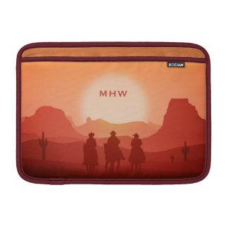 アリゾナの日没のカスタムなモノグラムのMacBookの袖 MacBook スリーブ