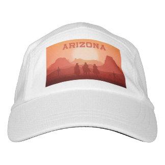 アリゾナの日没の名前をカスタムするの帽子 ヘッドスウェットハット