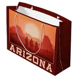 アリゾナの日没の大きいギフトバッグ ラージペーパーバッグ