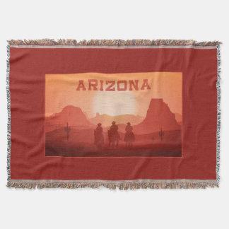 アリゾナの日没の投球毛布 スローブランケット