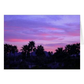 アリゾナの日没(ブランク) カード