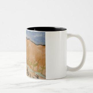 アリゾナの景色 ツートーンマグカップ