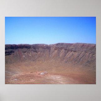 アリゾナの流星の噴火口のプリント ポスター