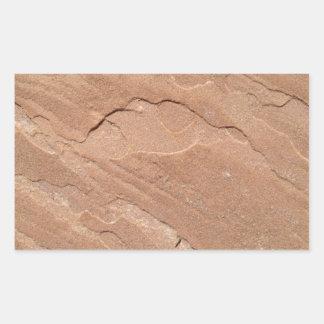 アリゾナの砂岩 長方形シール