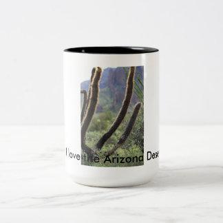 アリゾナの砂漠のマグ ツートーンマグカップ