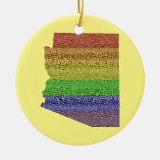 アリゾナの虹のプライドの旗のモザイク セラミックオーナメント