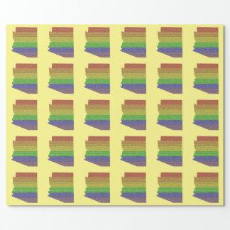 アリゾナの虹のプライドの旗のモザイク ラッピングペーパー