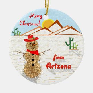 アリゾナのTumbleweedのクリスマス セラミックオーナメント