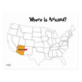 アリゾナはどこにありますか。 ポストカード