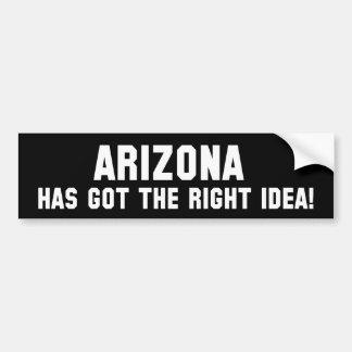 アリゾナは右のアイディアを持っています! バンパーステッカー