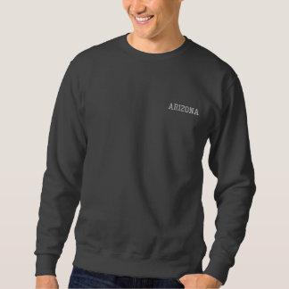 アリゾナは基本的なスエットシャツダークグレーの2を刺繍しました 刺繍入りスウェットシャツ