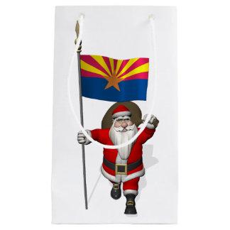 アリゾナを訪問するお祝いの父のクリスマス スモールペーパーバッグ