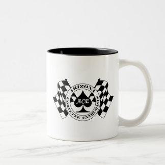 アリゾナコルベットの熱狂者のロゴのコーヒー・マグ ツートーンマグカップ