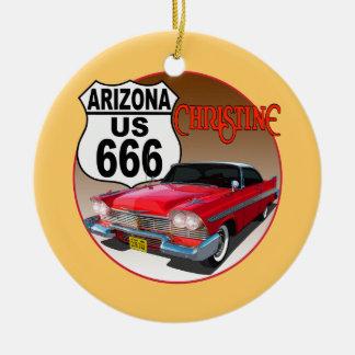 アリゾナ米国のルート666 -クリスティーン セラミックオーナメント