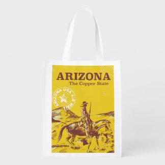 アリゾナ銅の州のヴィンテージ旅行ポスター エコバッグ