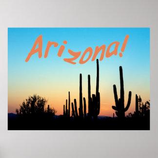 アリゾナ! サグアロの日没 ポスター