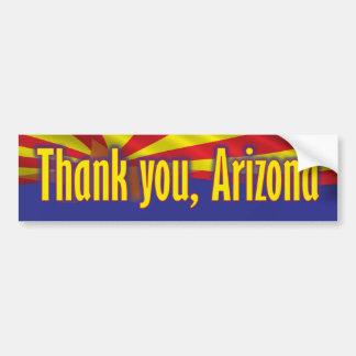 アリゾナ-サポートアリゾナありがとう バンパーステッカー