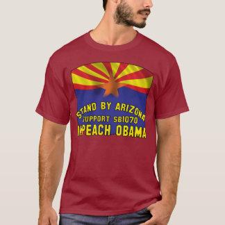 アリゾナ-サポートSB1070 -を弾劾しますオバマを待機して下さい Tシャツ
