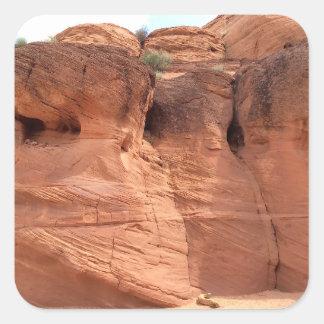 アリゾナ-上部のカモシカ渓谷A -赤い石 スクエアシール