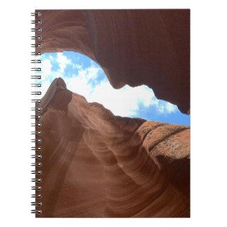 アリゾナ-上部のカモシカ渓谷B -赤い石 ノートブック