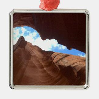 アリゾナ-上部のカモシカ渓谷B -赤い石 メタルオーナメント