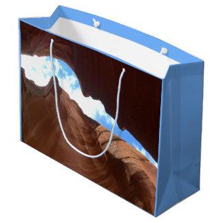 アリゾナ-上部のカモシカ渓谷B -赤い石 ラージペーパーバッグ