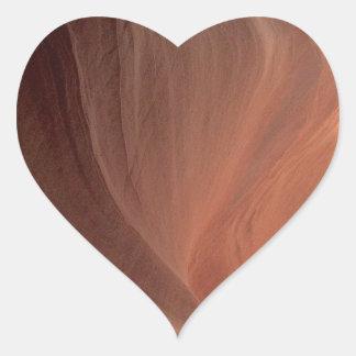 アリゾナ-上部のカモシカ渓谷E -赤い石 ハートシール
