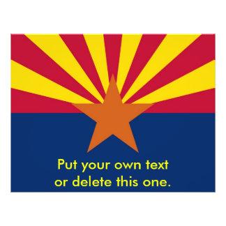 アリゾナ、米国の旗が付いているフライヤ チラシ