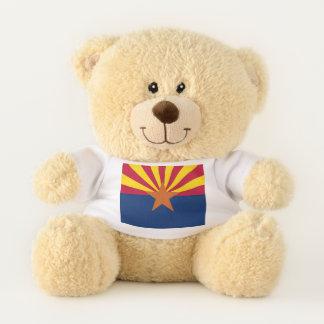 アリゾナ、米国の旗を持つ愛国心が強いテディー・ベア テディベア