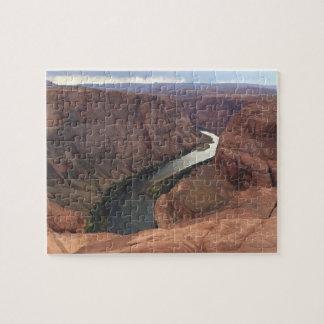 アリゾナ-蹄鉄のくねりA -赤い石 ジグソーパズル