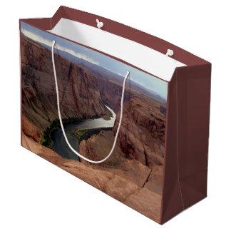 アリゾナ-蹄鉄のくねりA -赤い石 ラージペーパーバッグ