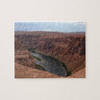 アリゾナ-蹄鉄のくねりB -赤い石 ジグソーパズル