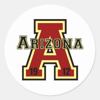 アリゾナ「A」の赤 ラウンドシール
